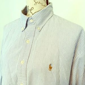 Ralph Lauren Button Down Shirt XL 17 1/2